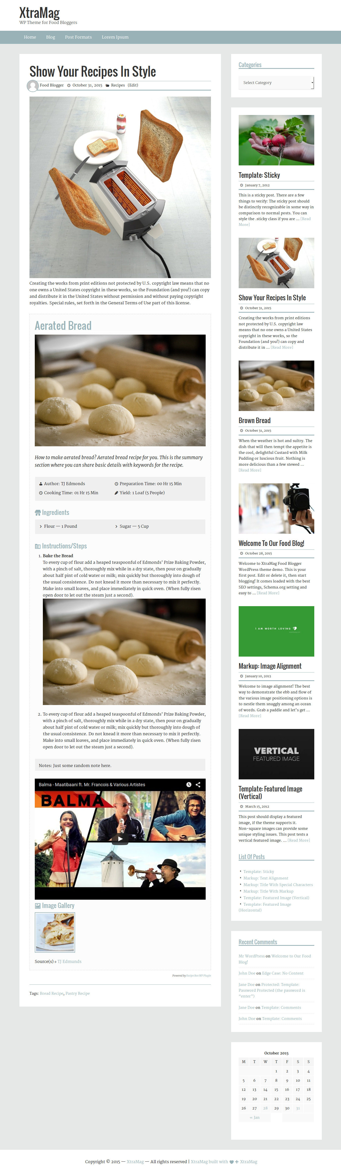 Xtramag wordpress theme food blogging guide click here demo download forumfinder Choice Image