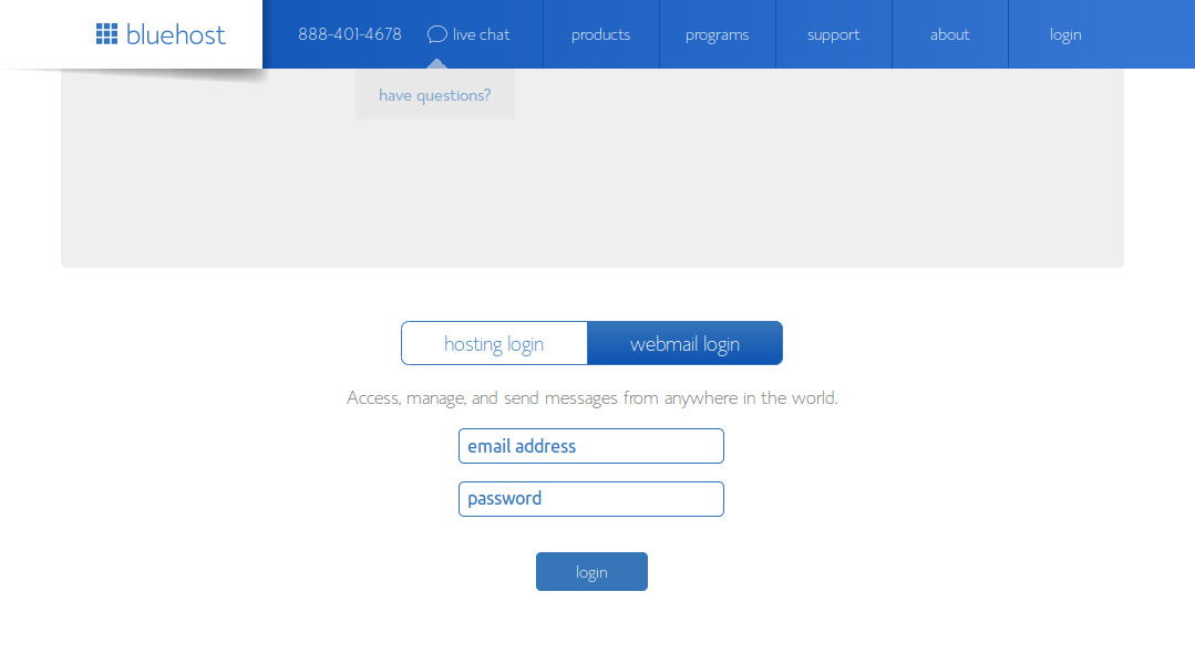 Bluehost-Email-Webmail