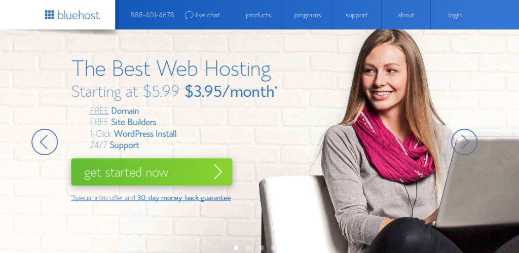 Bluehost Food Blog WebHosting
