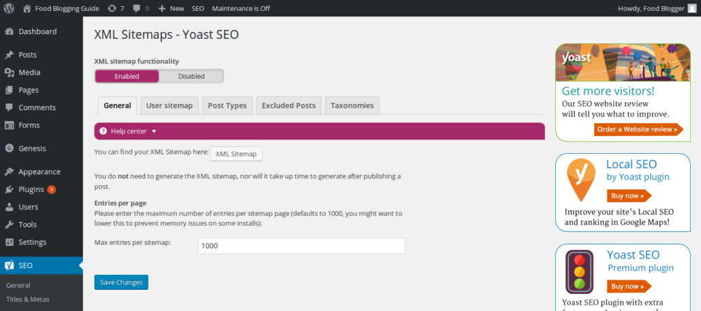 How To Add Sitemap To Your WordPress Blog